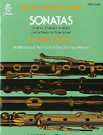 Bach - SONATAS VOLUME 1 for flute and piano HL 50334590